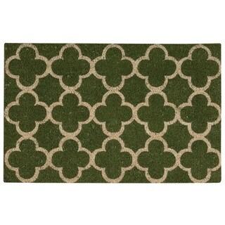 "Waverly Greetings ""Framework"" Green Doormat by Nourison (1'6 x 2'4)"