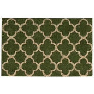 "Waverly Greetings ""Framework"" Green Doormat by Nourison (1'6 x 2'4) - 1'6 x 2'4"
