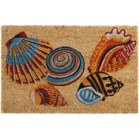 "Waverly Greetings ""Tossed Shells"" Beige Doormat by Nourison (1'6 x 2'4)"