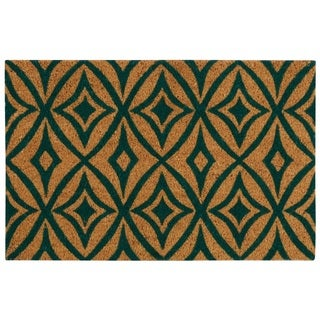 "Waverly Greetings ""Centro"" Teal Doormat by Nourison - 1'6"" x 2'4"""