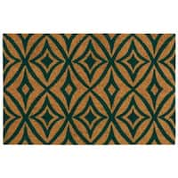 "Waverly Greetings ""Centro"" Teal Doormat by Nourison - 1'6 x 2'4"