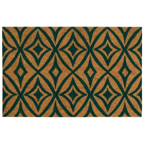 """Waverly Greetings """"Centro"""" Teal Doormat by Nourison (1'6 x 2'4) - 1'6"""" x 2'4"""""""
