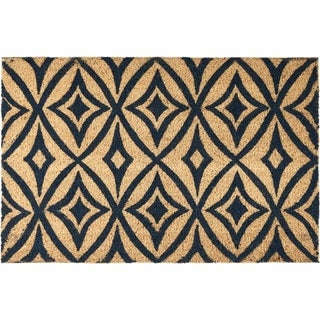 "Waverly Greetings ""Centro"" Navy Doormat by Nourison (1'6 x 2'4)"