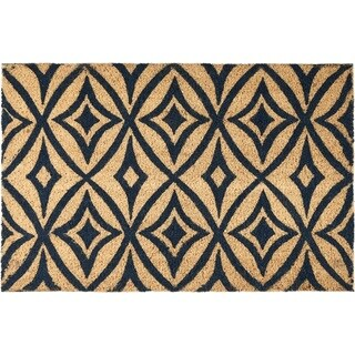 "Waverly Greetings ""Centro"" Navy Doormat by Nourison (1'6 x 2'4) - 2' x 3'"