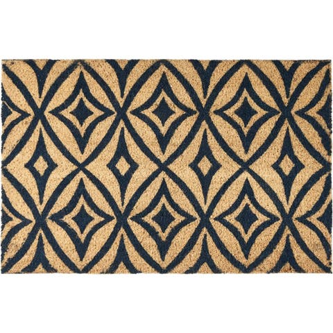 """Waverly Greetings """"Centro"""" Navy Doormat by Nourison (1'6 x 2'4)"""