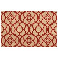 "Waverly Greetings ""Lovely Lattice"" Red Doormat by Nourison (1'6 x 2'4)"