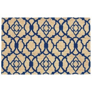 "Waverly Greetings ""Lovely Lattice"" Navy Doormat by Nourison (1'6 x 2'4)"