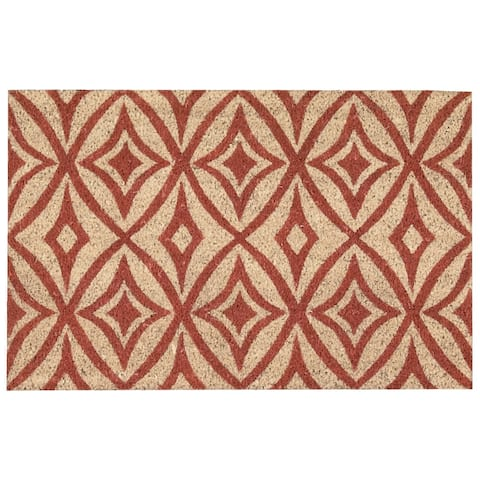 """Waverly Greetings """"Centro"""" Henna Doormat by Nourison (1'6 x 2'4)"""