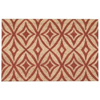 "Waverly Greetings ""Centro"" Henna Doormat by Nourison (1'6 x 2'4)"