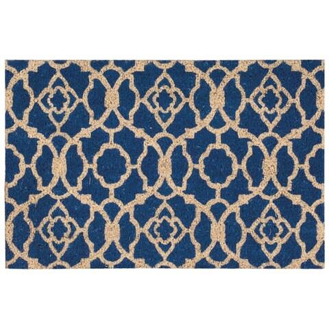 """Waverly Greetings """"Lovely Lattice"""" Ocean Doormat by Nourison - 1'6 x 2'4"""