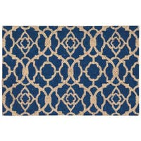 "Waverly Greetings ""Lovely Lattice"" Ocean Doormat by Nourison - 1'6 x 2'4"