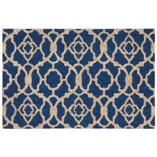 "Waverly Greetings ""Lovely Lattice"" Ocean Doormat by Nourison (1'6 x 2'4)"