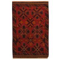 Handmade Herat Oriental Afghan Tribal Balouchi Wool Area Rug - 2'8 x 4'5