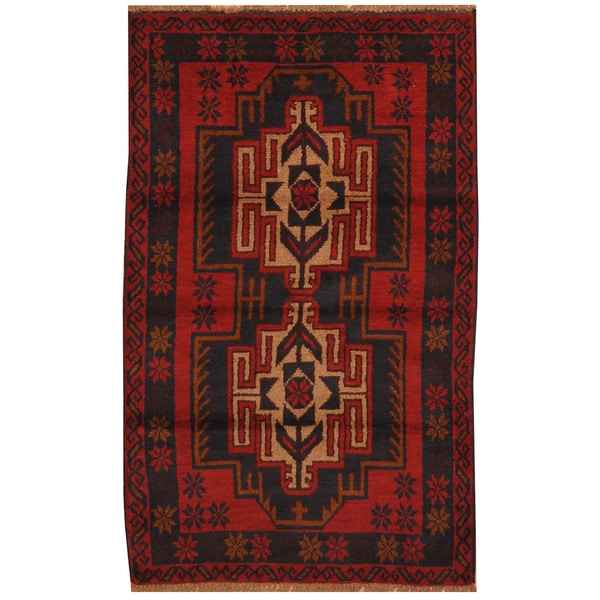 Handmade Balouchi Wool Rug (Afghanistan) - 2'9 x 4'6