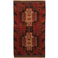 Handmade Herat Oriental Afghan Tribal Balouchi Wool Area Rug (2'8 x 4'8) - 2'8 x 4'8