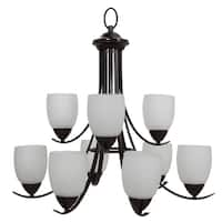 Yosemite Home Décor Mirror Lake Collection 9 Light Chandelier