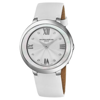 Baume and Mercier Promesse White Satin Women's Watch