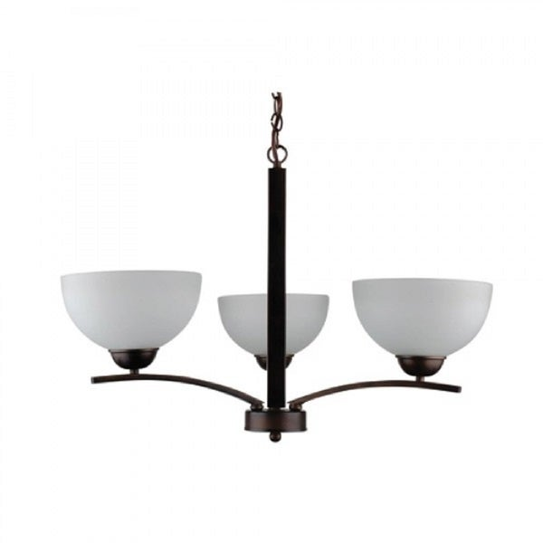 Yosemite Home Décor Alta Peak Collection 3 Light Bowl Chandelier