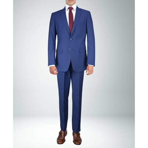 Carlo Studio Navy Blue small Check Suit
