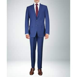 Carlo Studio Navy Blue small Check Suit|https://ak1.ostkcdn.com/images/products/17964530/P24140692.jpg?impolicy=medium