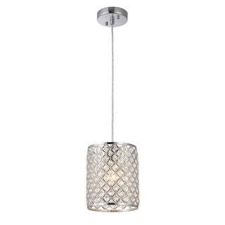 Botvi 1-Light 7-Inch Chrome Drum Pendant