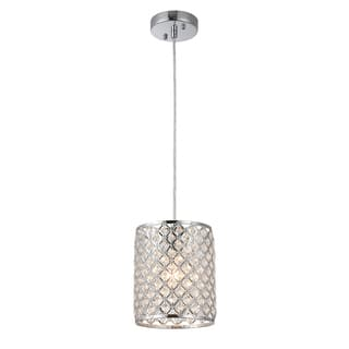 Buy drum pendant lighting online at overstock our best botvi 1 light 7 inch chrome drum pendant aloadofball Image collections