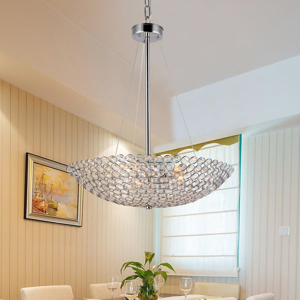 Gydha 5-Light 20-Inch Crystal Bowl Pendant