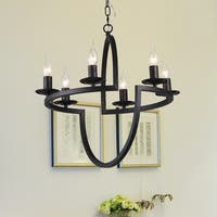 Fiametta 6-Light 21-Inch Antique Bronze Geometric Pendant