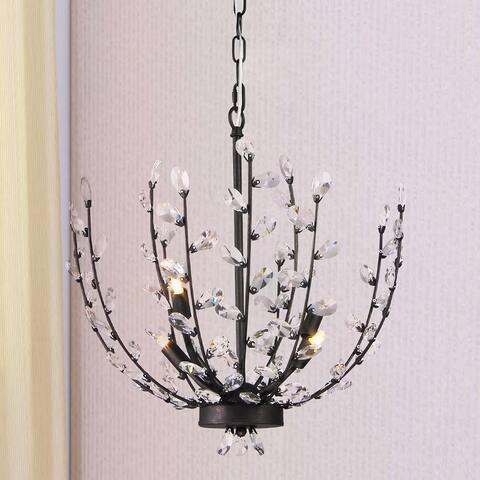 Fogelise 4-Light 18-Inch Twig and Crystal Bud Pendant