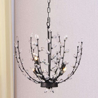 Fogelise 4-Light 18-Inch Twig and Crystal Bud Pendant