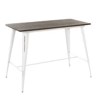 Oregon Industrial Metal and Wood Counter Table - assembly required