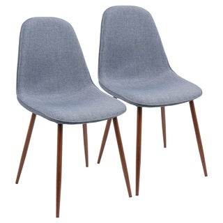 LumiSource Pebble Fabric Upholstered/Metal Accent/Dining Chairs (Set of 2)