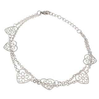 Filagree Hearts Ankle Bracelet