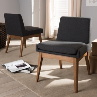 Mid-Century Fabric Dining Side Chair 2-Piece Set by Baxton Studio