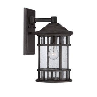 Acclaim Lighting Vista II Collection Wall-Mount 1-Light Outdoor Black Coral Light Fixture