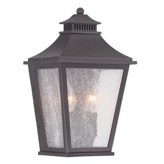 Acclaim Lighting Chapel Hill collection 2-light oil-rubbed bronze wall-mounted lantern.