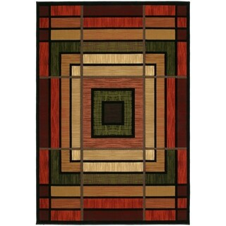 """Westfield Home Sculptures Lynette Terracotta Hand Carved Accent Rug - 2'6"""" x 4'2"""""""