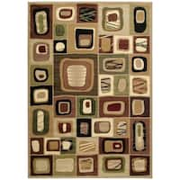 Westfield Home Sculptures Rosemary Toffee Hand Carved Area Rug - 7'10 x 10'6