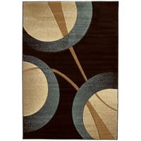 """Westfield Home Sculptures Rosalie Smoke Blue Hand Carved Accent Rug - 2'6"""" x 4'2"""""""