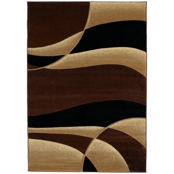 """Westfield Home Sculptures Iris Toffee Hand Carved Accent Rug - 2'6"""" x 4'2"""""""