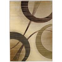 """Westfield Home Sculptures Rosalie Cream Hand Carved Accent Rug - 2'6"""" x 4'2"""""""