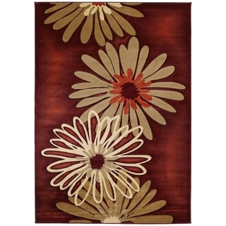 Westfield Home Sculptures Lilly Terracotta Hand-carved Runner Rug (2'7 x 7'3)