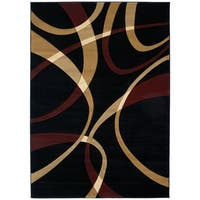"""Westfield Home Sculptures Indira Onyx Hand Carved Accent Rug - 2'6"""" x 4'2"""""""