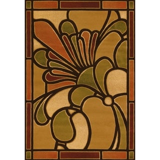 """Westfield Home Sculptures Eispeth Terracotta Hand Carved Accent Rug - 1'10"""" x 2'6"""""""