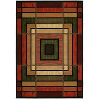 """Westfield Home Sculptures Lynette Terracotta Hand Carved Accent Rug - 1'10"""" x 2'6"""""""