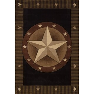 """Westfield Home Sculptures Western Star Onyx Hand Carved Accent Rug (2'6"""" x 4'2"""")"""