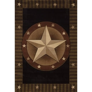 """Westfield Home Sculptures Western Star Onyx Hand Carved Accent Rug - 2'6"""" x 4'2"""""""