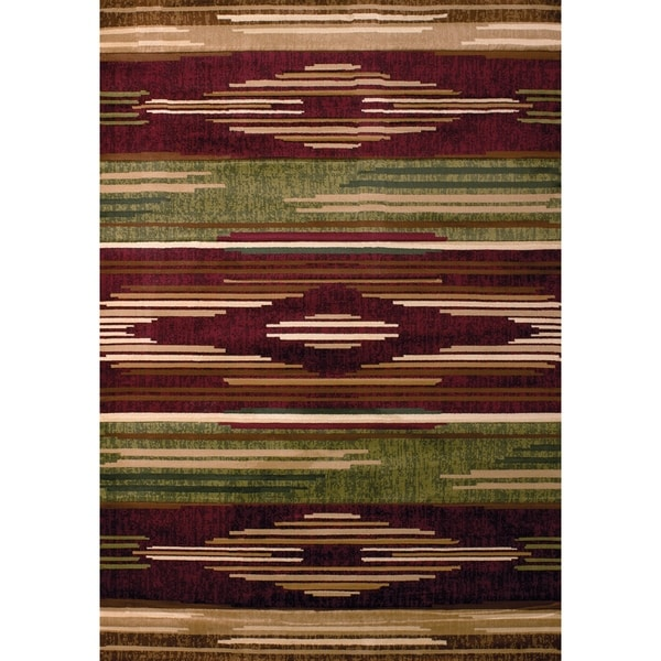 "Westfield Home Sculptures Eileen Burgundy Hand Carved Accent Rug - 1'10"" x 2'6"""