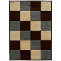 """Westfield Home Sculptures Rosanna Smoke Blue Hand Carved Accent Rug - 1'10"""" x 2'6"""""""