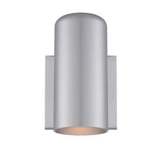 Acclaim Lighting Wall Sconces Collection Wall-Mount 1-Light Outdoor Brushed Silver Light Fixture